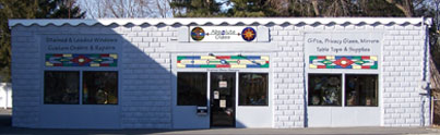 195 Haverhill Street, Methuen MA 01844 1(978)975-1222 Absolute Glass Store front, Stained Glass Studio